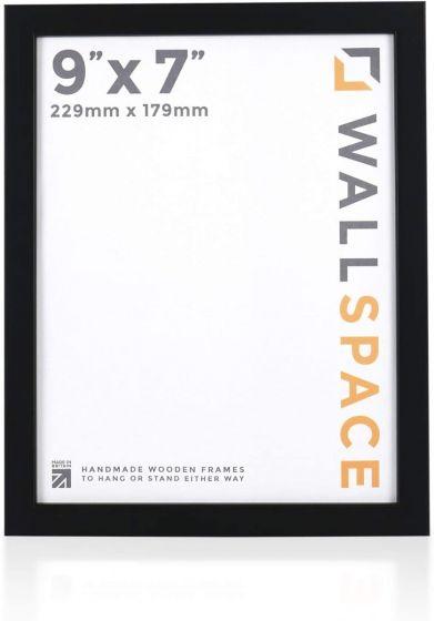 9 x 7 - 15mm Matt Black Photo Frames