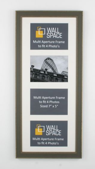 Grey Multi Aperture Frame to fit 4 Photo's