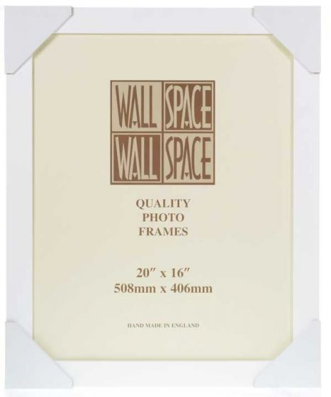 "20"" x 16"" - 40mm Smooth Matt White Photo Frame"