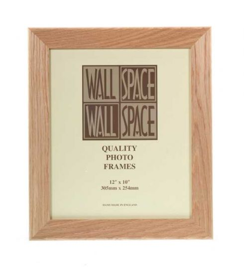 "12"" x 10"" Photo Frame in Wide Solid Oak"