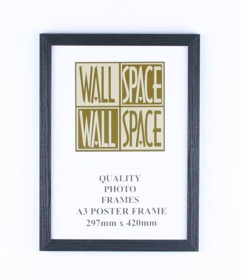A3 Wooden Poster Frame - Black Wood