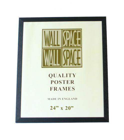 "Black Wooden Poster Frame - 24"" x 20"""