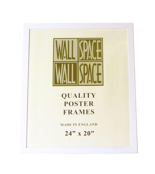 """White Wooden Poster Frame - 24"""" x 20"""""""