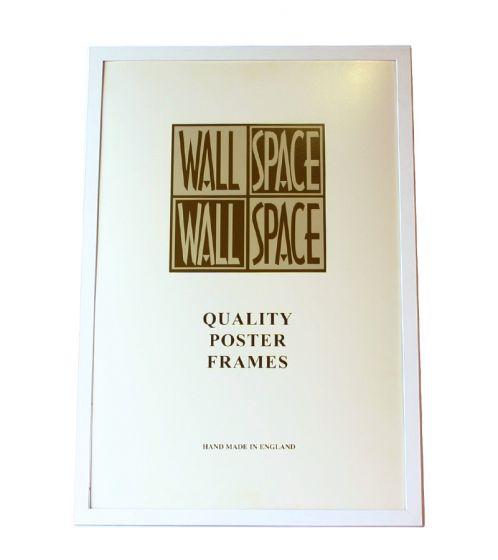 """White Wooden Poster Frame - 36"""" x 24"""""""