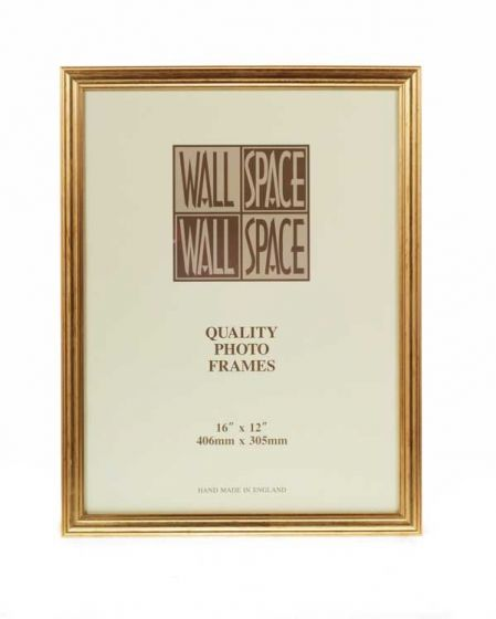 "16"" x 12"" - Deluxe Gold Wooden Photo Frame"
