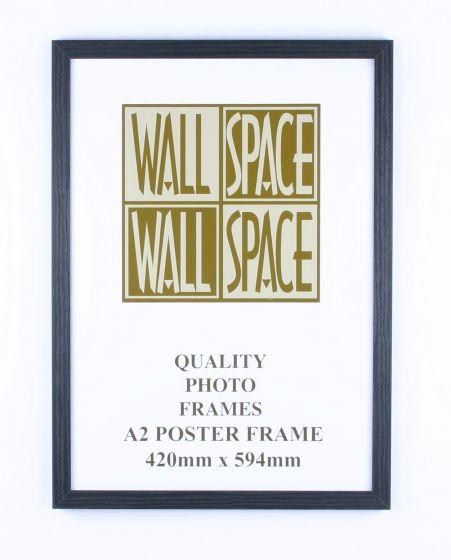 A2 Wooden Poster Frame - Black Wood