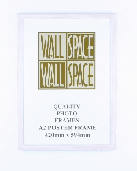 A2 Wooden Poster Frame - White Wood