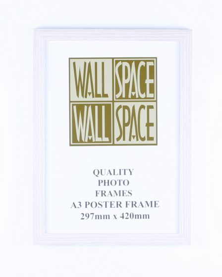 A3 Wooden Poster Frame - White Wood