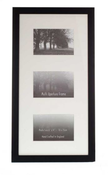 Multiple Aperture Photo Frame - 3 Holes to fit 3x Photo's