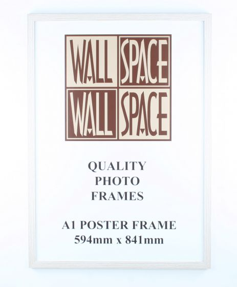 A1 Wooden Poster Frame - White Wood