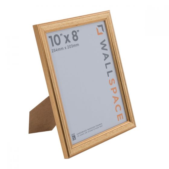 10 x 8 Gold Wooden Photo Frames