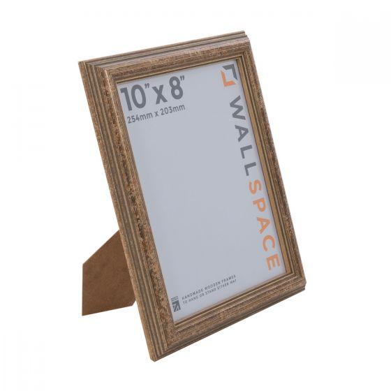 10 x 8 - Speckled Gold Wooden Photo Frames