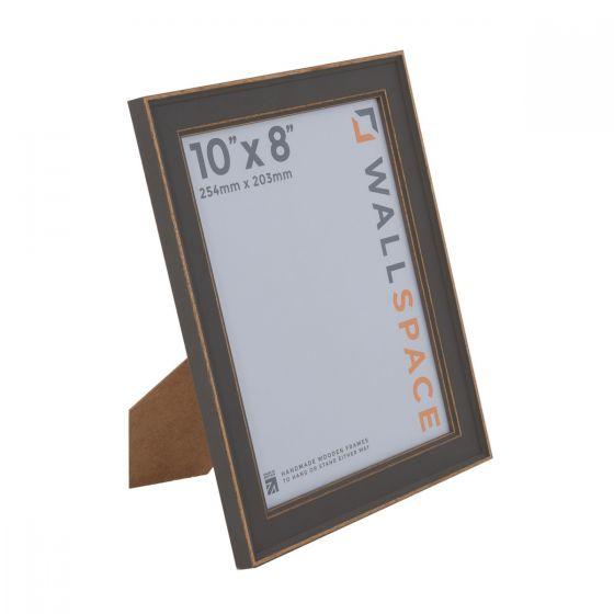 10 x 8 - Vintage Shabby Chic Distressed Frame - Grey