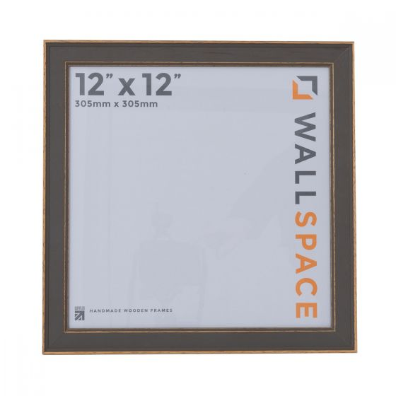 12 x 12 - Vintage Shabby Chic Grey Square Photo Frames
