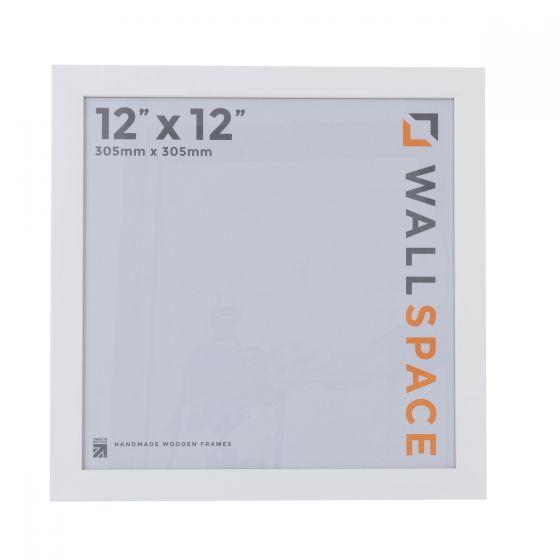 12 x 12 - 25mm Smooth Matt White Square Photo Frames