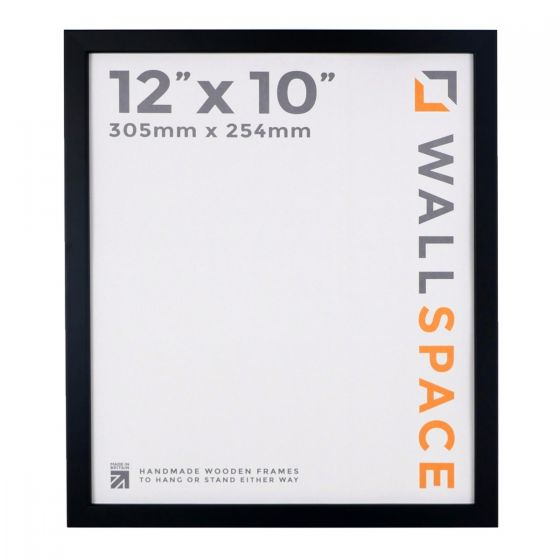 12 x 10 - 15mm Matt Black Photo Frames