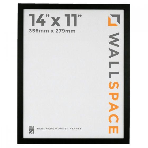14 x 11 - 15mm Matt Black Photo Frames
