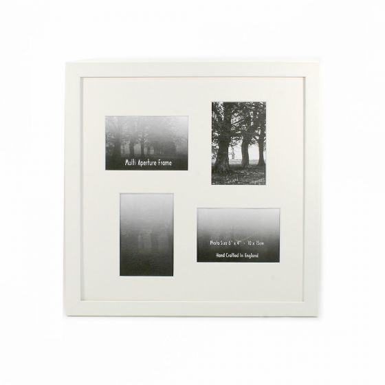 Multi Aperture Frames to Fit 4 Photo's - 25mm White