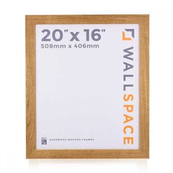 20 x 16 - 40mm Solid Oak Wooden Photo Frames