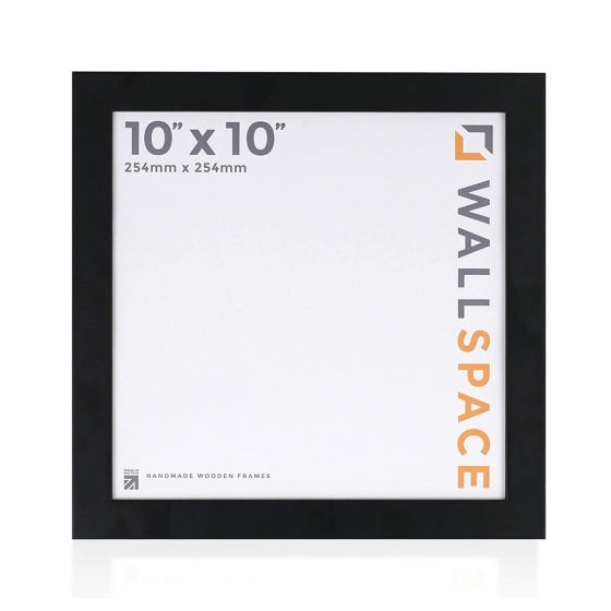10 x 10 - 25mm Smooth Matt Black Square Photo Frames