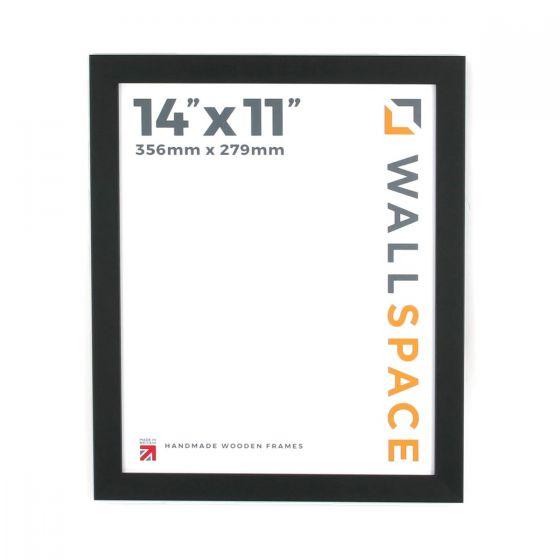 14 x 11 - 25mm Smooth Matt Black Photo Frames