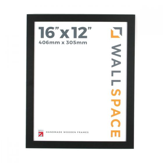 16 x 12 - 25mm Smooth Matt Black Photo Frames