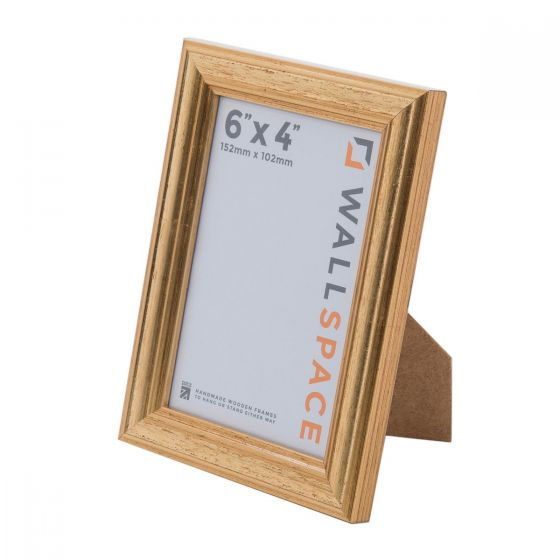 6 x 4 - Deluxe Gold Wooden Photo Frames