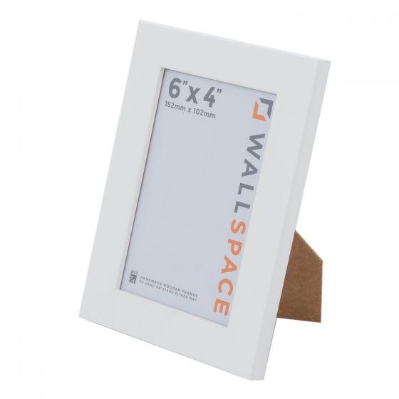 6 x 4 - 25mm Smooth Matt White Photo Frames