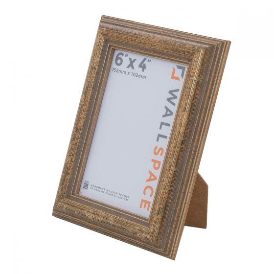6 x 4 - Speckled Gold Wooden Photo Frames