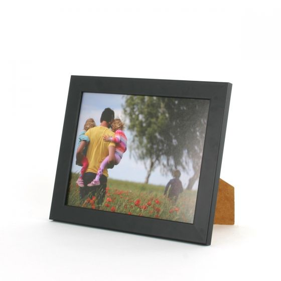 9 x 7 - 25mm Smooth Matt Black Photo Frames