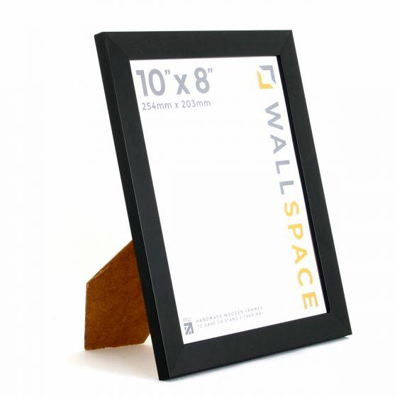 10 x 8 - 25mm Smooth Matt Black Photo Frames