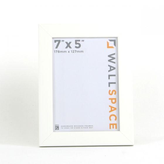 7 x 5 - 25mm Smooth Matt White Photo Frames