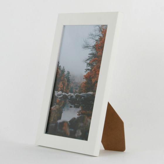 9 x 6 - 25mm Smooth Matt White Photo Frames