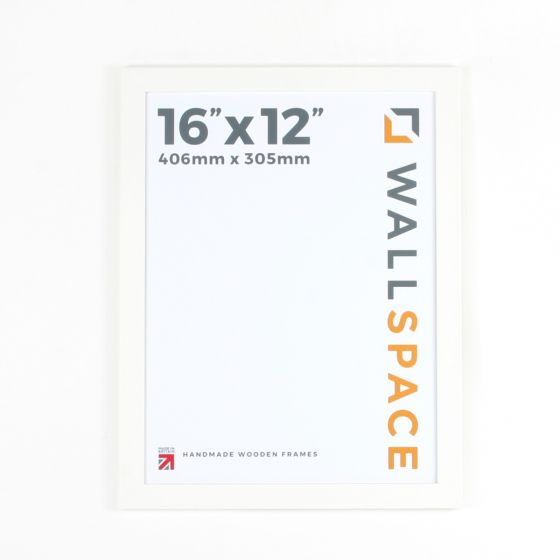 16 x 12 - 25mm Smooth Matt White Photo Frames