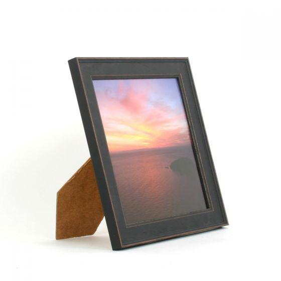 8 x 8 - Vintage Shabby Chic Black Square Photo Frames
