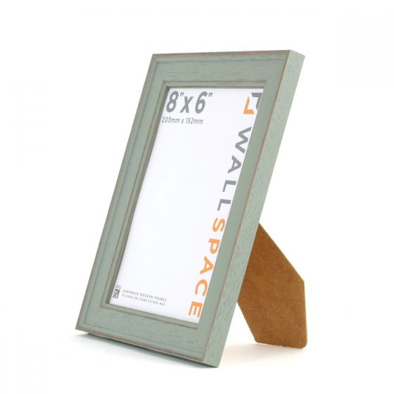 8 x 6 - Vintage Shabby Chic Distressed Frame - Green