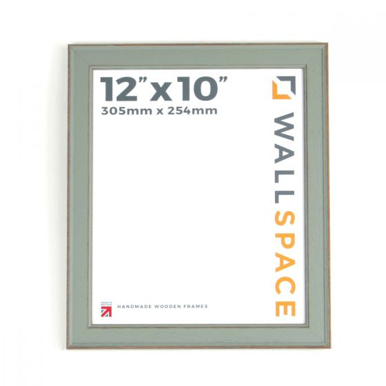 12 x 10 - Vintage Shabby Chic Distressed Frame - Green