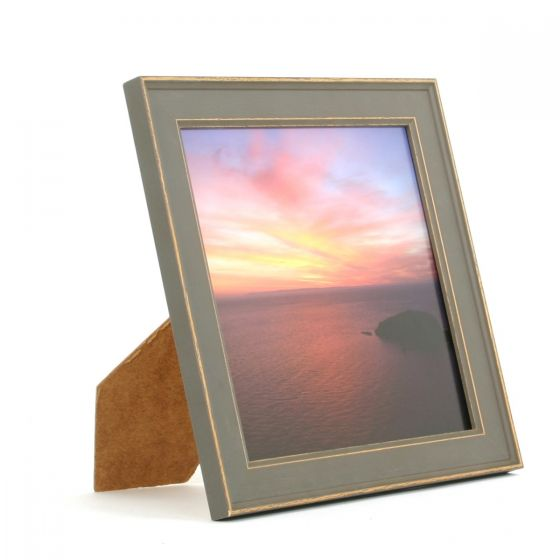 8 x 8 - Vintage Shabby Chic Grey Square Photo Frames