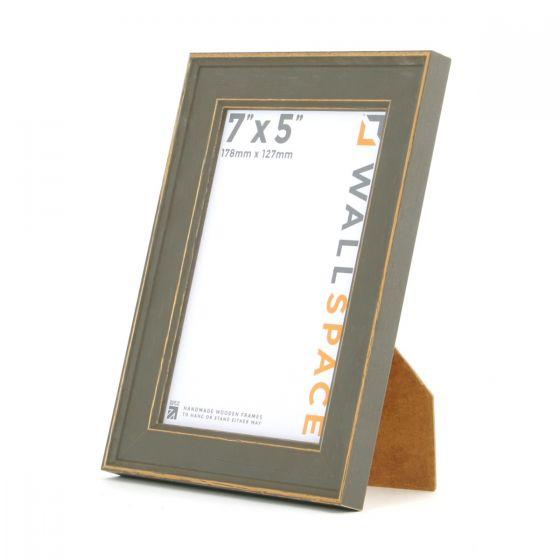 7 x 5 - Vintage Shabby Chic Distressed Frame - Grey