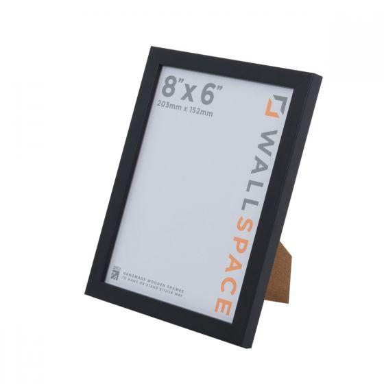 8 x 6 Thin Matt Black Photo Frames
