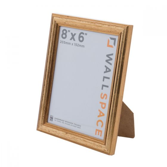 8 x 6 - Deluxe Gold Wooden Photo Frames