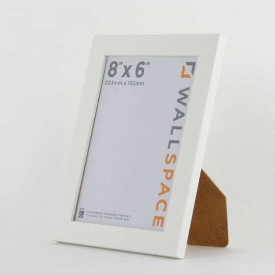 8 x 6 - 15mm Matt White Photo Frames