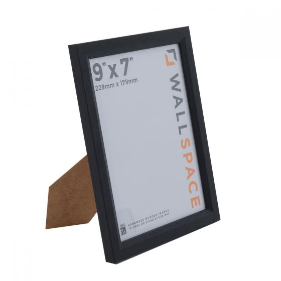 9 x 7 - 1 Black Photo Frames