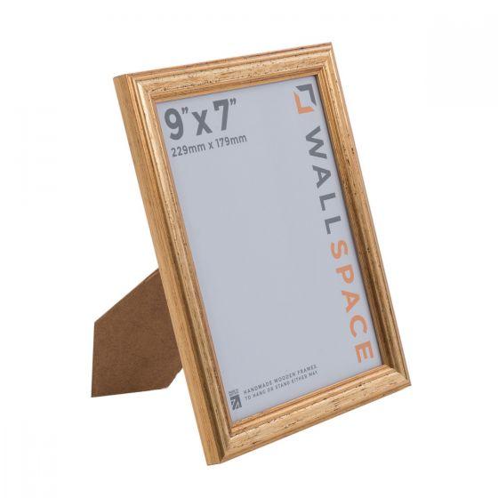 9 x 7 Gold Wooden Photo Frames
