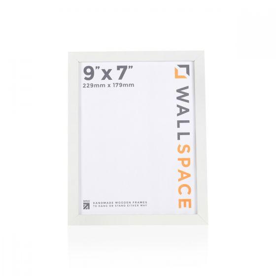 9 x 7 - 15mm Matt White Photo Frames