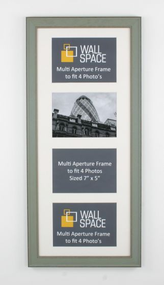 Green Multi Aperture Frame to fit 4 Photo's
