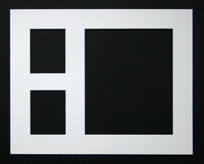 Triple Aperture Frame      To fit 1x (12 x 10) + 2x (5 x 4) Photo's