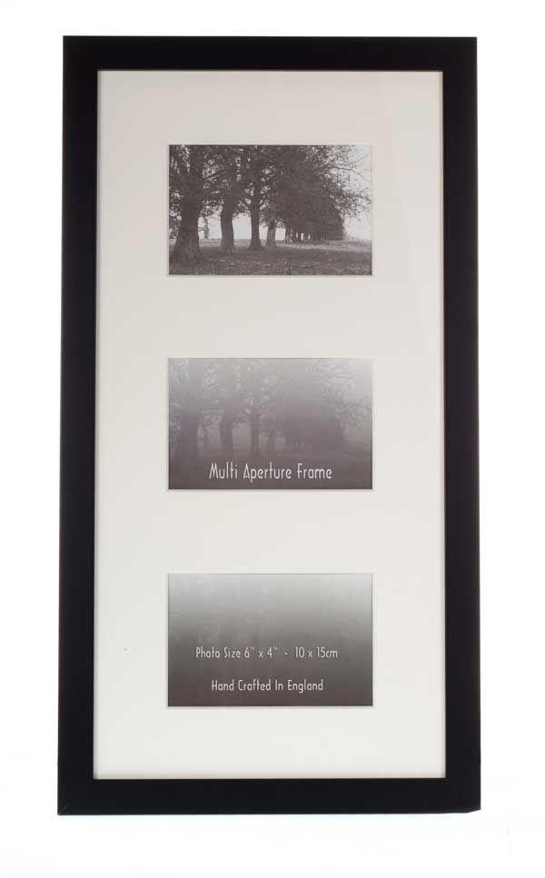 Multiple Aperture Frames 25mm Black Frame To Fit 3 Photo S