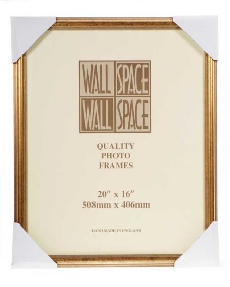 "20"" x 16"" - Speckled Gold Wooden Photo Frame"