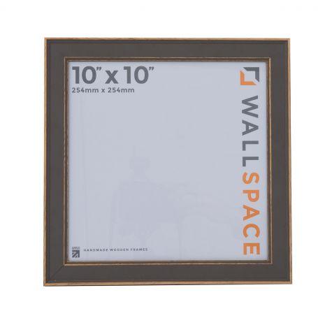 10 x 10 - Vintage Shabby Chic Grey Square Photo Frames